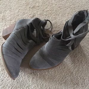 Chinese laundry grey suede booties